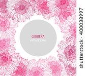 Elegant Card With Pink Gerbera...