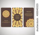 set of ornamental cards  flyers ...   Shutterstock .eps vector #400040323