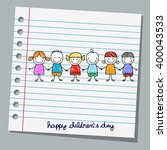 Notebook Paper Happy Children...