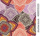 seamless pattern. vintage... | Shutterstock .eps vector #400055323