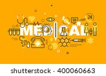 thin line flat design banner... | Shutterstock .eps vector #400060663