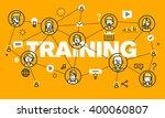 thin line flat design banner... | Shutterstock .eps vector #400060807