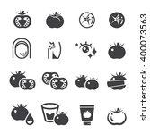 tomato icon set