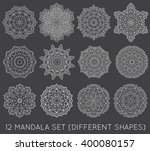 Set Of Ethnic Fractal Mandala...