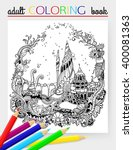adult coloring page. undersea... | Shutterstock .eps vector #400081363