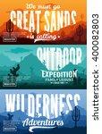 desert horizontal banner set.... | Shutterstock .eps vector #400082803