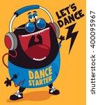 dance monster vector design | Shutterstock .eps vector #400095967