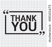 thank you lettering... | Shutterstock .eps vector #400101673