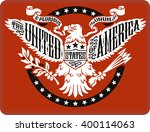 american eagle on red... | Shutterstock .eps vector #400114063