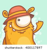 cheerful cartoon monster | Shutterstock .eps vector #400117897