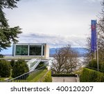 Small photo of NYON, SWITZERLAND, MARCH 29, 2016: The headquarters of the Union of European Football Associations (UEFA), which is the administrative body for association football in Europe.
