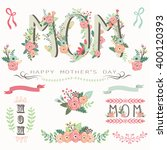floral mother's day collections   Shutterstock .eps vector #400120393