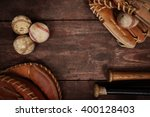 Small photo of Old Vintage Baseball Background. Shallow focus