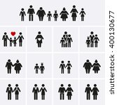 family icons. man  woman  kid ... | Shutterstock .eps vector #400130677
