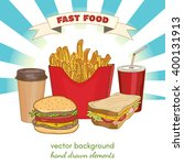 fast food collection... | Shutterstock .eps vector #400131913