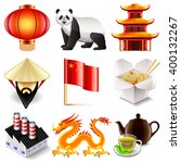 china icons detailed photo... | Shutterstock .eps vector #400132267