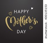 mothers day vector greeting... | Shutterstock .eps vector #400135153