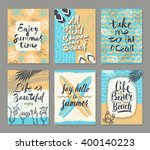 vector set of summer holidays... | Shutterstock .eps vector #400140223