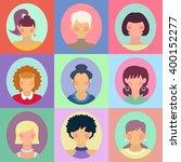 vector set of different women... | Shutterstock .eps vector #400152277