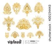 vector illustration of golden... | Shutterstock .eps vector #400154443