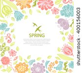 spring background from flowers...   Shutterstock .eps vector #400156003