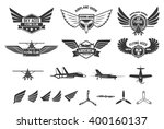 set of flying club labels and...