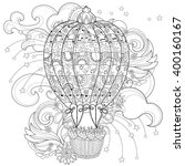 hand drawn doodle outline  air... | Shutterstock .eps vector #400160167