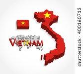 vietnam 3d   flag and map   ... | Shutterstock .eps vector #400160713