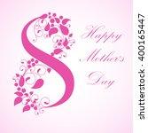 mother's day. vector... | Shutterstock .eps vector #400165447
