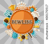 background with bowling items.... | Shutterstock .eps vector #400170517
