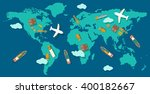 logistic concept production...   Shutterstock .eps vector #400182667