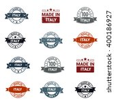 beautiful 12 made in italy... | Shutterstock .eps vector #400186927