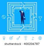 flat design vector concept... | Shutterstock .eps vector #400206787