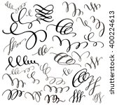 set of hand drawn calligraphic... | Shutterstock .eps vector #400224613