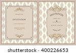 invitation card baroque  | Shutterstock .eps vector #400226653