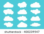 simple cloud collection. set of ... | Shutterstock .eps vector #400239547