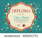 preschool kids diploma... | Shutterstock .eps vector #400241773