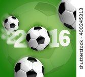 soccer balls  footballs  in...   Shutterstock . vector #400245313