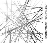 abstract chaotic lines pattern. ... | Shutterstock .eps vector #400248157
