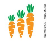 vector veg carrot illustration. ... | Shutterstock .eps vector #400255303