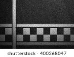 level asphalted road with a... | Shutterstock . vector #400268047