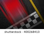 level asphalted road with a... | Shutterstock . vector #400268413