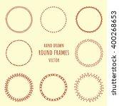 set of hand drawn doodle frames.... | Shutterstock .eps vector #400268653
