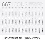 large set of simple icons on... | Shutterstock .eps vector #400269997