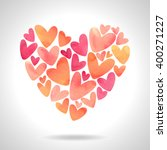 cute heart made of many small... | Shutterstock .eps vector #400271227