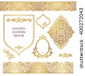 vector set of ornate frames ... | Shutterstock .eps vector #400272043