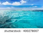 Caribbean Sea Bottom With Blue...