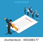 flat 3d web isometric contract... | Shutterstock .eps vector #400288177