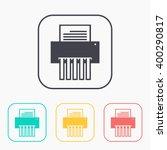 color icon set of shredder
