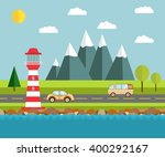 flat illustration with the... | Shutterstock .eps vector #400292167